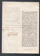 Pamplona (Espagne) Document  De 1821 Signé P 2 (PPP8939) - Non Classés