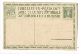 N21- Fête Nationale Bundesfeier Carte N°6  Neuve 1913 - Entiers Postaux