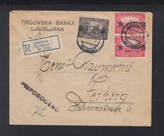 Yugoslavia Registered Cover 1924 Ljubljana To Germany - 1919-1929 Königreich Der Serben, Kroaten & Slowenen
