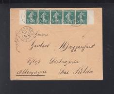 Lettre 1909 Cahors Pour L'Allemagne - 1877-1920: Semi-Moderne