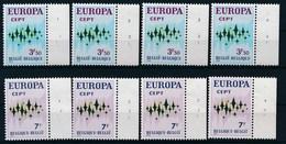 BELGIE - OBP Nr 1623/1624 - Europa CEPT - PLAATNUMMER 1/4 - MNH** - 1971-1980