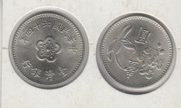TAIWAN  1 Dollar (yuan) Année 64 = 1975  年四十六國民華中  Y#536 - Taiwan