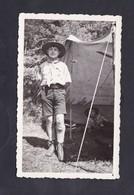 Photo Originale Vintage Scoutisme Jeune Scout Camp De Pentecôte 1935 - Padvinderij