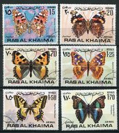 Ras Al Khaima Ob Michel N°  A 614 A à 619 A - Papillons - - Ra's Al-Chaima