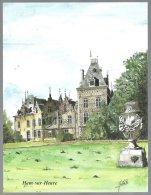 Coll.Delhaize,Châteaux De Belgique. 3 Gravures: Ham-sur-heure,Antoing ,Chimay - Histoire