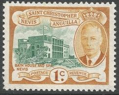 St Kitts-Nevis. 1952 KGVI. 1c MH. SG 94 - St.Christopher-Nevis-Anguilla (...-1980)