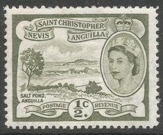St Kitts-Nevis. 1954-63 QEII. ½c MH. SG 106a - St.Christopher-Nevis-Anguilla (...-1980)