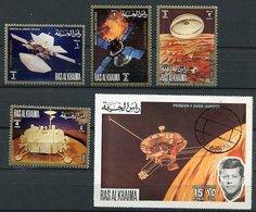 (CL 121) Ras Al Khaima Ob Michel N° 846 A à 850 A - Projet Pioneer - - Ra's Al-Chaima