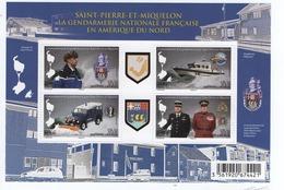 K11 St Pierre Et Miquelon Bloc 2015 Gendarmerie Neuf** - Blocks & Sheetlets