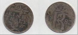 Allemagne Prusse Preussen 1/ 24 Einen Thaler  1783 A  KM#296 - [ 1] …-1871 : German States