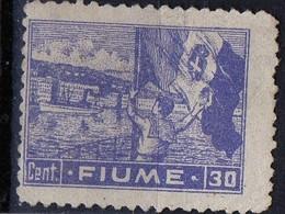 PIA  - 1919 : FIUME : Bandiera Italiana Nel Porto - (Yv C39) - 8. Occupazione 1a Guerra