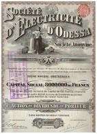 Action Ancienne - Société D 'Electricité D' Odessa -Titre De 1910 - N° 27097 - Russie