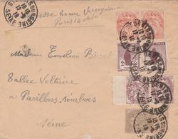 France Lettre St Denis Sur Seine 1918 - Postmark Collection (Covers)