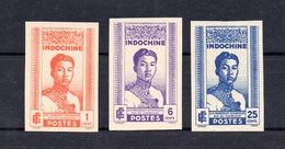 !!! PRIX FIXE : INDOCHINE, SERIE N°224/226 NON DENTELEE NEUVE TOUJOURS SANS GOMME, TIRAGE 50 EX - Unused Stamps