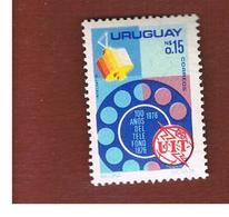 URUGUAY   -    1976 UIT, 100 YEARS OF TELEPHONE                                     - MINT ** - Uruguay