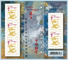 Feuillet  Neuf ** TTB F 4631 Année Lunaire Chinoise Du Dragon, Valeur Faciale 3 Euros, Bénéfice 0,5 Euros - Blocs & Feuillets