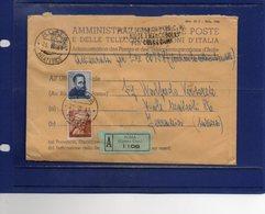 ##(DAN186/1)1961- Busta Assicurata Da Roma Per Savona, Lineare Poste Roma Centro Vendita Francobolli Per Collezioni - 6. 1946-.. Repubblica
