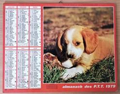 Calendrier La Poste - Almanach : Paris Région Parisienne 1979. Plan Paris,SNCF,métro - Kalender