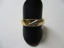 Anello Uomo In Oro Bianco E Giallo Con Brillante - Rings
