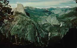 CARTE POSTALE ORIGINALE DE 9CM/14CM : YOSEMITE NATIONAL PARK CALIFORNIA THE HIGH SIERRA FROM GLACIER POINT   USA - Yosemite