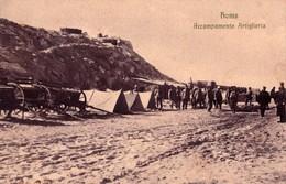 LIBIA - HOMS - ACCAMPAMENTO ARTIGLIERIA - F/P - N/V - Guerra 1914-18