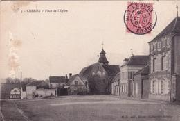 28-CHERISY- PLACE DE L'EGLISE (DEFAUT) - France
