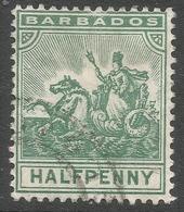 Barbados. 1905 Seal Of Colony. ½d Used. Mult Crown CA W/M SG 136 - Barbados (...-1966)