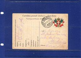##(DAN186/1)-1915-- Cartolina Postale In Franchigia, Annullo Ufficio Posta Militare 7° Corpo Armata Per Modena - Guerra 1914-18