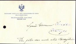 ITALIA - SHS - VENEZIA GIULIA - ITAL. COMMISS. Per La DELIMITAZIONE Dei CONFINI - TRIESTE - 1922 - RARE - Historical Documents