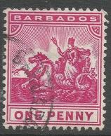 Barbados. 1905 Seal Of Colony. 1d Used. Mult Crown CA W/M SG 137 - Barbados (...-1966)