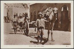 Native Camel Carts, Aden, C.1920s - Lehem RP Postcard - Yemen
