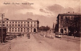 CAGLIARI - VIA ROMA - PALAZZO DOGANA - F/P - N/V - TRAM - Cagliari