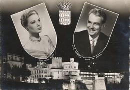 325 - 1956 Prince De Monaco Ranieri III Miss Grace Kelly  - TRAVELLED - Case Reali