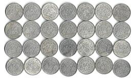 Lot 28 Pièces De Monnaie 50 Centimes L Bazor  1942 -43- 44 - France