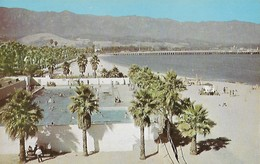 CARTE POSTALE ORIGINALE DE 9CM/14CM : LOS BANOS DEL MAR MUNICIPAL SWIMMING POOL SANTA BARBARA CALIFORNIA  USA - Santa Barbara