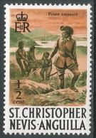 St Kitts-Nevis. 1970 QEII. ½c MH. SG 206 - St.Christopher-Nevis-Anguilla (...-1980)