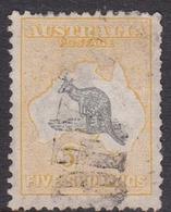 Australia SG 42 1918 Kangaroo,5sh Grey And Yellow, Used - Used Stamps