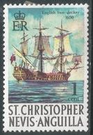 St Kitts-Nevis. 1970 QEII. 1c MH. SG 207 - St.Christopher-Nevis-Anguilla (...-1980)