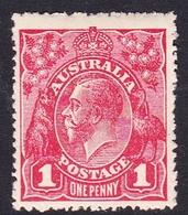 Australia SG 47  1917 King George V,1d Red, Mint Hinged - Mint Stamps