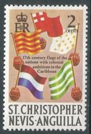 St Kitts-Nevis. 1970 QEII. 2c MH. SG 208 - St.Christopher-Nevis-Anguilla (...-1980)