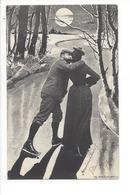 20084 - Couple D'Amoureux  Patineurs Au Clair De Lune FEC. CH. Scolik, Wien - Couples