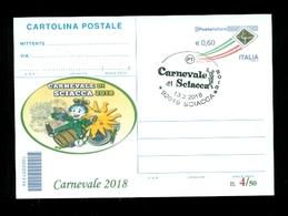 INTERI POSTALI-SOPRASTAMPA PRIVATA- CARNEVALI-MARCOFILIA-SCIACCA - Carnevale