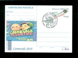 INTERI POSTALI-SOPRASTAMPA PRIVATA- CARNEVALI-MARCOFILIA-TERMINI IMERESE - Carnevale