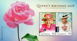 Australia - 2018 - Queen's Birthday - Mint Souvenir Sheet With Embossing + Varnish - 2010-... Elizabeth II