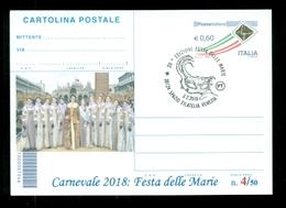 INTERI POSTALI-SOPRASTAMPA PRIVATA- CARNEVALI-MARCOFILIA-VENEZIA-FESTA DELLE MARIE - Carnevale
