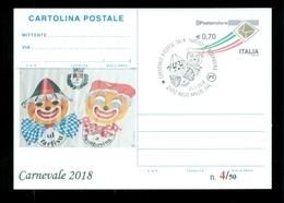 INTERI POSTALI-SOPRASTAMPA PRIVATA- CARNEVALI-MARCOFILIA-BUSTO ARSIZIO - Carnevale