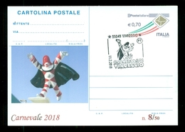 INTERI POSTALI-SOPRASTAMPA PRIVATA- CARNEVALI-MARCOFILIA-VIAREGGIO - Carnevale