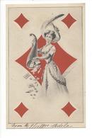 20088 - Dame De Carreau Par E Schiendl - Playing Cards