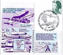 27 5 1983  - BUSTA FDC 35° SALONE INTERNAZIONALE DELL'AERONAUTICA DI PARIGI - Aerei