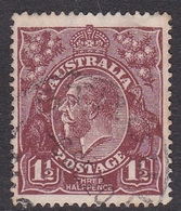 Australia SG 55 1919 King George V,three Half Penny Red Brown, Large Multiple Watermark, Used - 1913-36 George V: Heads